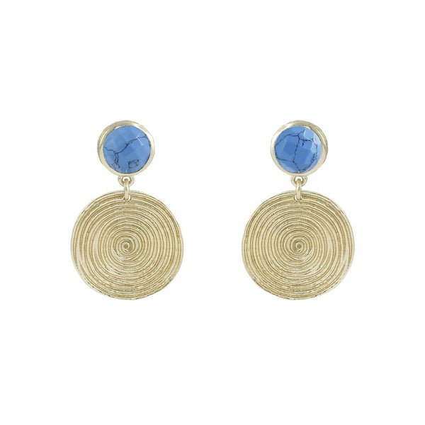 Coin Texture Small Drop Earrings | Marcia Moran | Fashion Accessories | Earrings