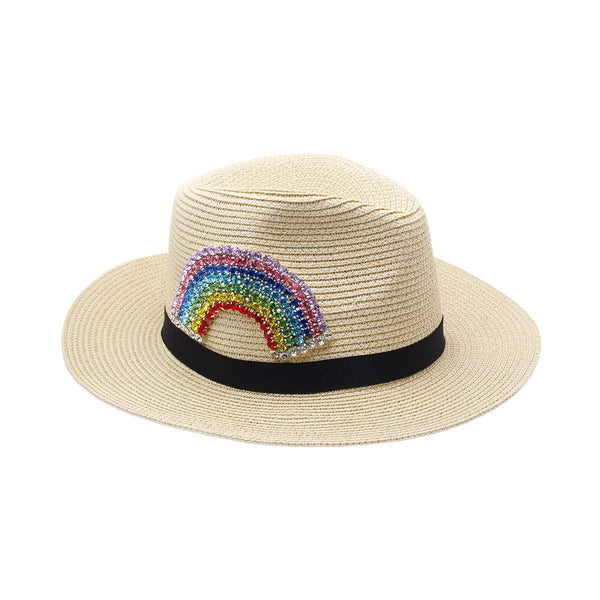 Rainbow Panama Hat | Bitsandpiecestogo | Fashion Accessories | Hat