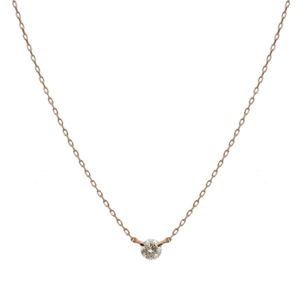 18K Gold Single Stone Diamond Necklace | Boom & Mellow | Fine Jewelry | Necklace