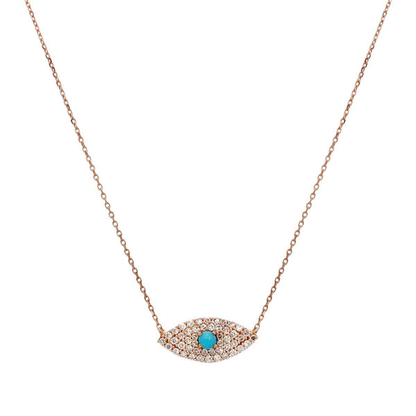 18K Gold Evil Eye Diamonds Necklace | Boom & Mellow | Fine Jewelry | Necklace