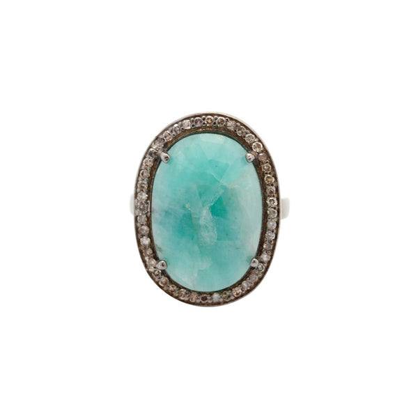 Sterling Silver Big Emerald Ring | Boom & Mellow | Fine Jewelry | Ring
