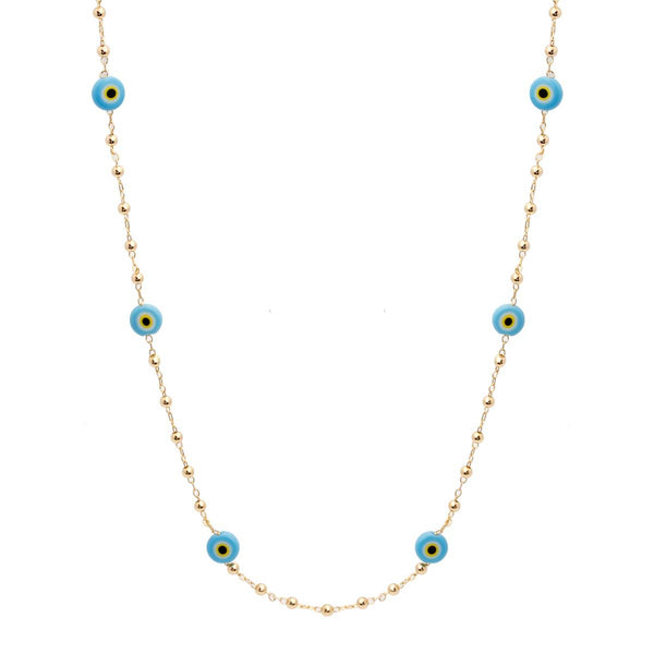Evil Eye Beads Long Necklace | You & Eye | Fashion Accessories | Necklace