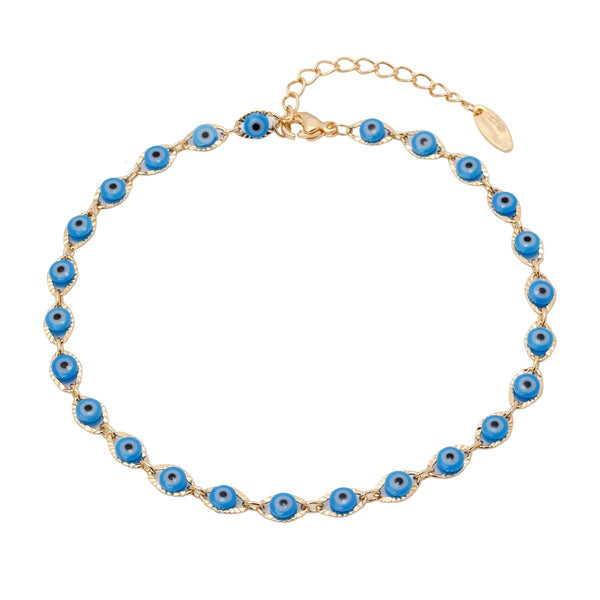 Blue Evil Eye Anklet | You & Eye | Fashion Accessories | Anklet