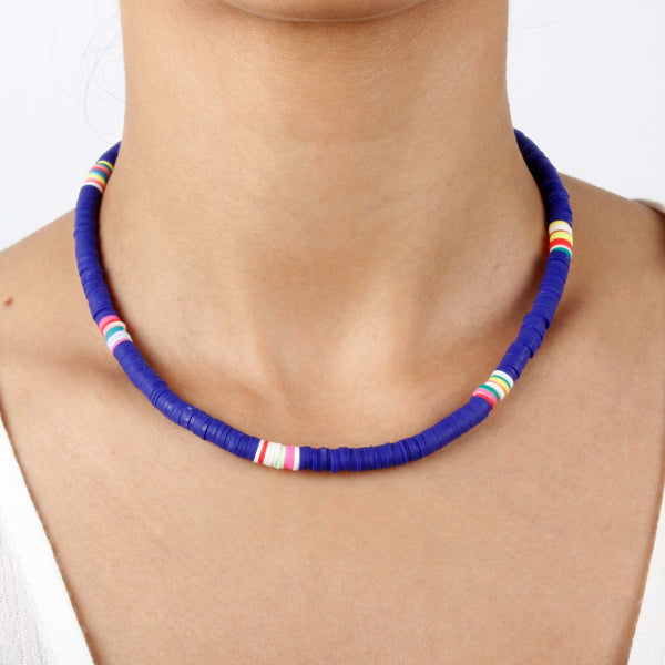 Blue Clay Beads Choker Necklace Boom & Mellow | Fashion Accessories | Necklace