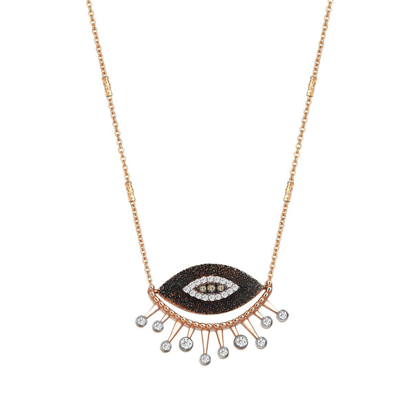 14K Rose Gold Eye Eternal Vision Necklace | Kismet by Milka | Fine Jewelry | Necklace