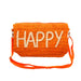 Happy orange clutch bag