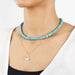 18k gold turquoise necklace