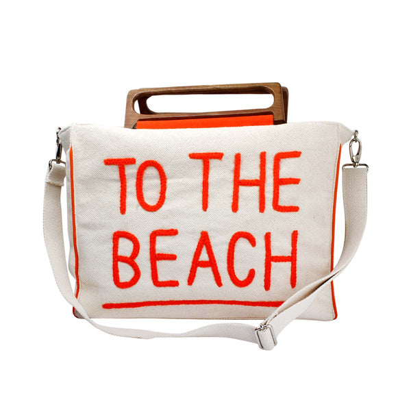 To the beach beach bag