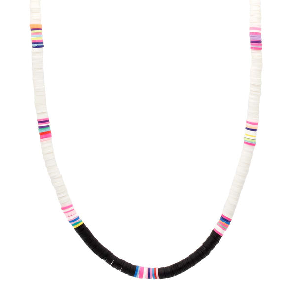 White Clay Beads Choker Necklace Boom & Mellow | Fashion Accessories | Necklace