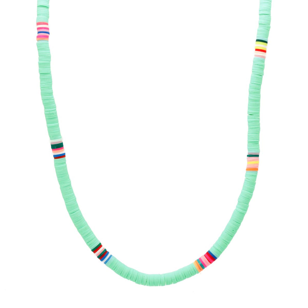Turquoise Clay Beads Choker Necklace Boom & Mellow | Fashion Accessories | Necklace