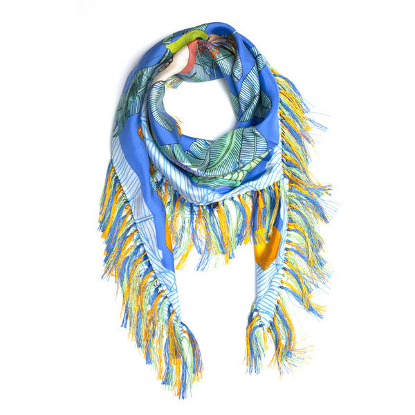 Forget me not, Twill seta parrot pompons, Boom and