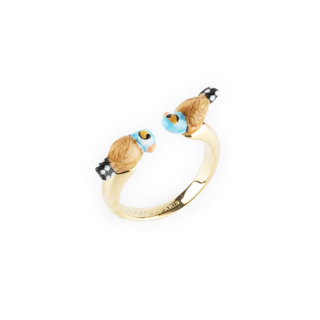 Chubby Blue Bird Face To Face Ring | Nach Bijoux | Fashion Accessories | Rings