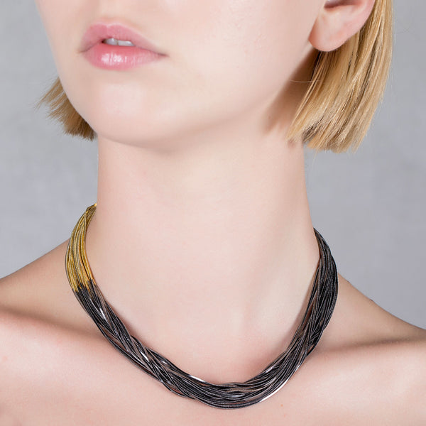 Multi Wires Necklace |Iosselliani | Fashion Accessories | Necklaces