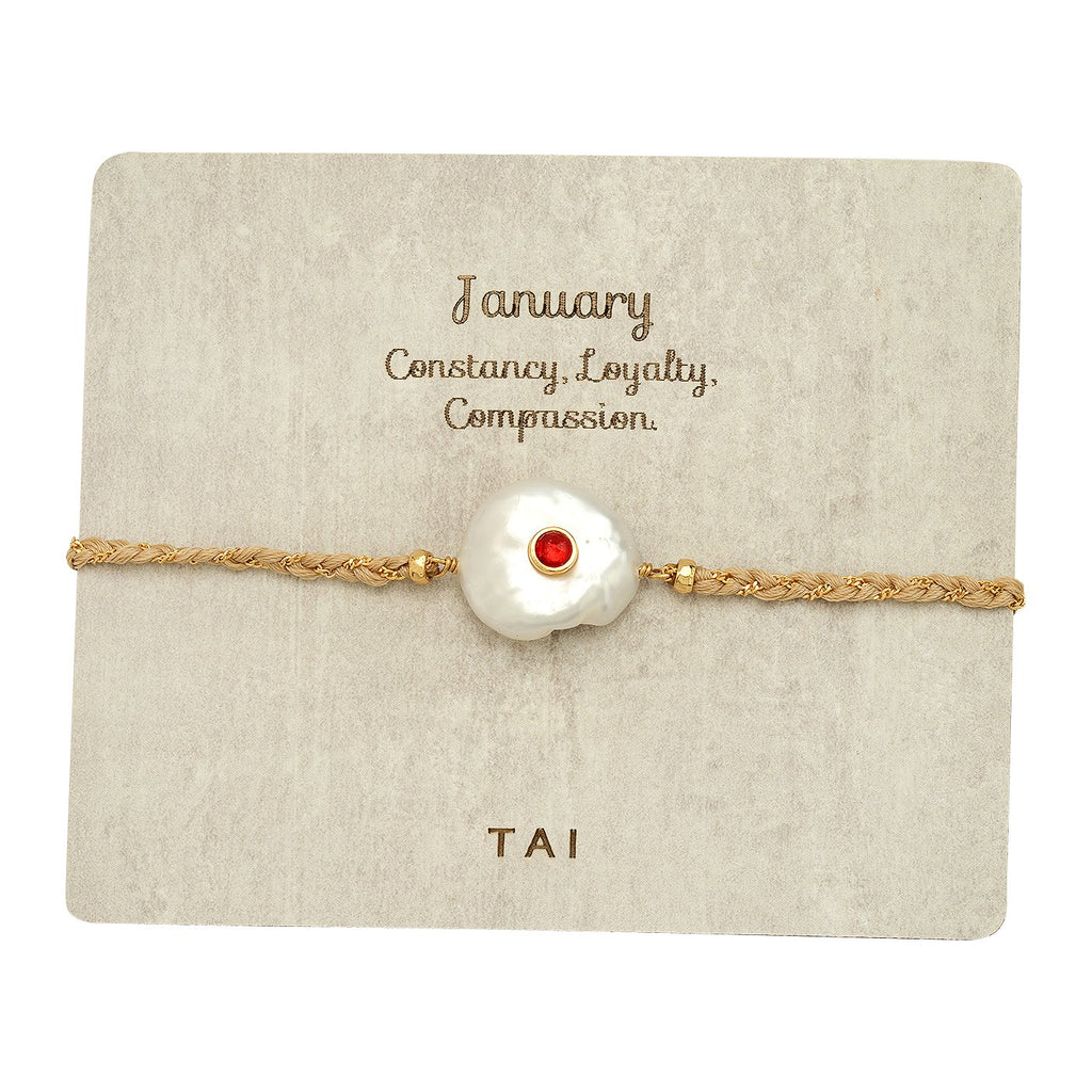Birthstone Baroque Pearl Bracelet | Tai | Fashion Accessories | Bracelet