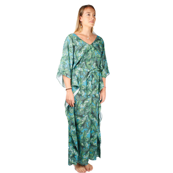 Green Leaves Kimono | Maria Sanz | Clothes | Dress