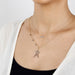 14k rose gold stuck doodle star necklace