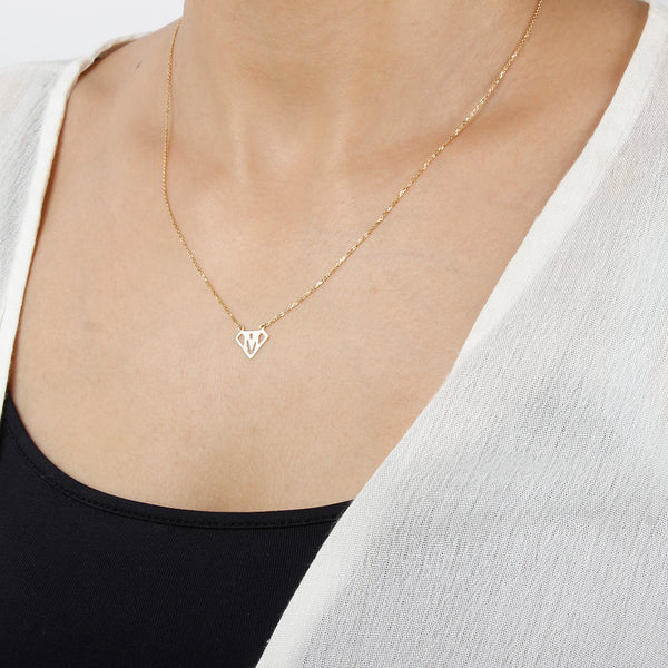 Customized Super girl initial necklace