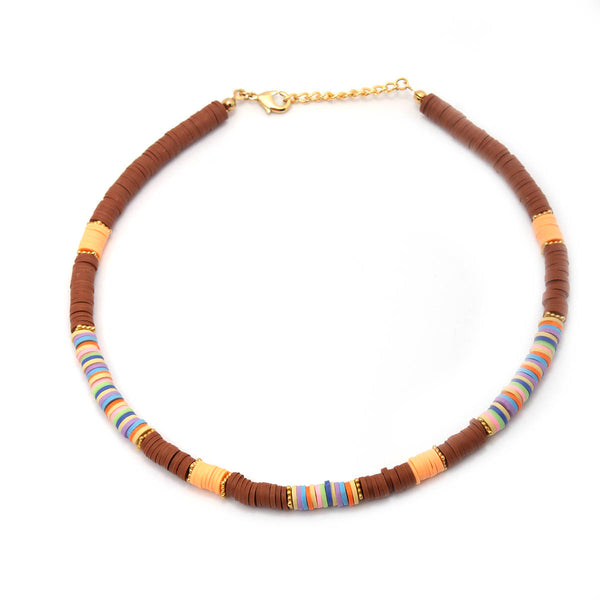 Brown surfer necklace