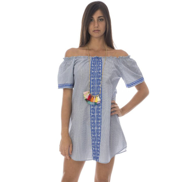 Serena cotton embroidered dress