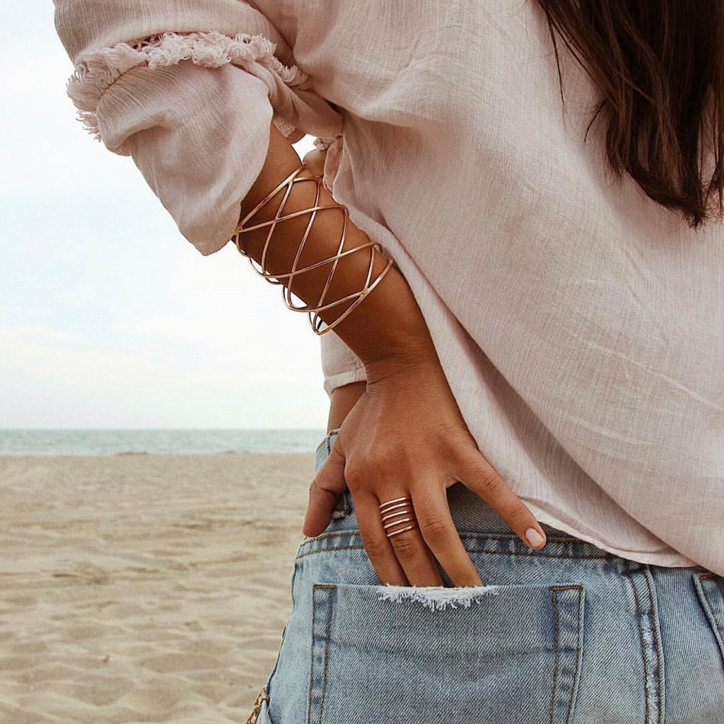 Criss Cross Cuff | Marcia Moran |Fashion Accessories |Bracelets