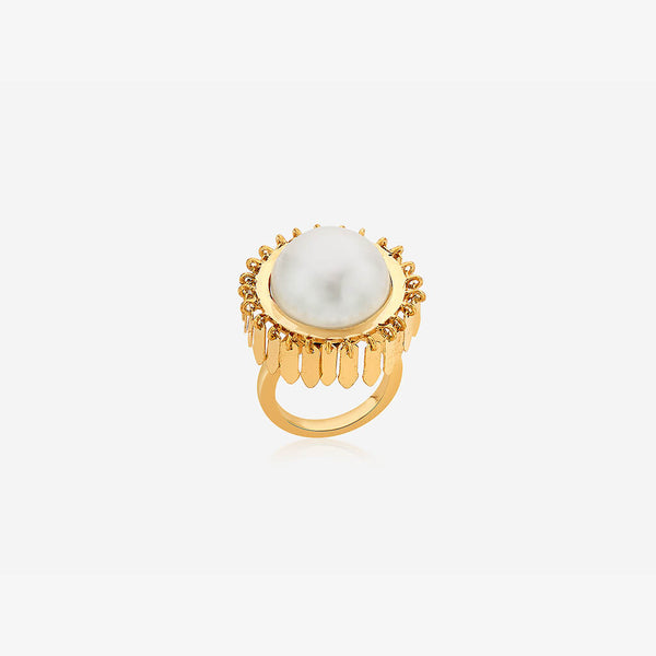 Noor Pearl Fringe Ring | Isharya | Fashion Accessories | Ring