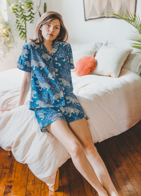 Indigo Bagheera Short Sleep Set | Printfresh | Clothes | Top | Bottoms