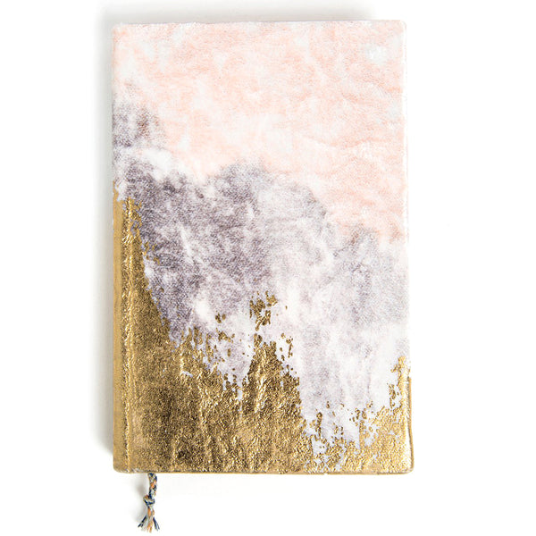 Blush Fade Mini Velvet Gratitude Journal | Printfresh | Journal | Note