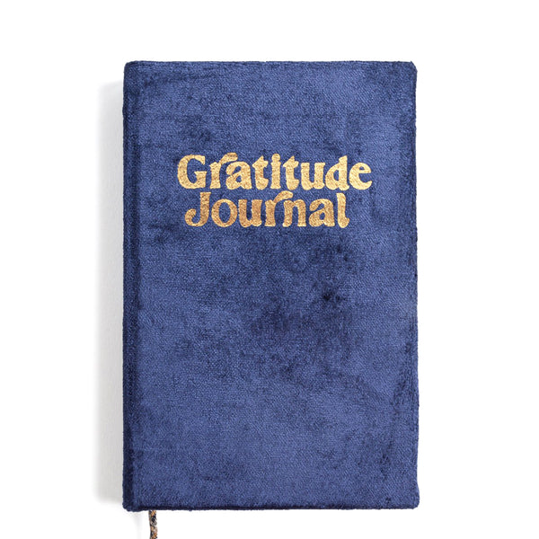 Navy Fade Mini Velvet Gratitude Journal | Printfresh | Journal | Note