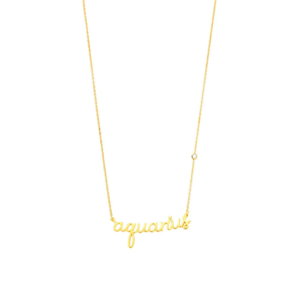 Zodiac Sign Script Necklace | Tai | Fashion Accessories | Necklace