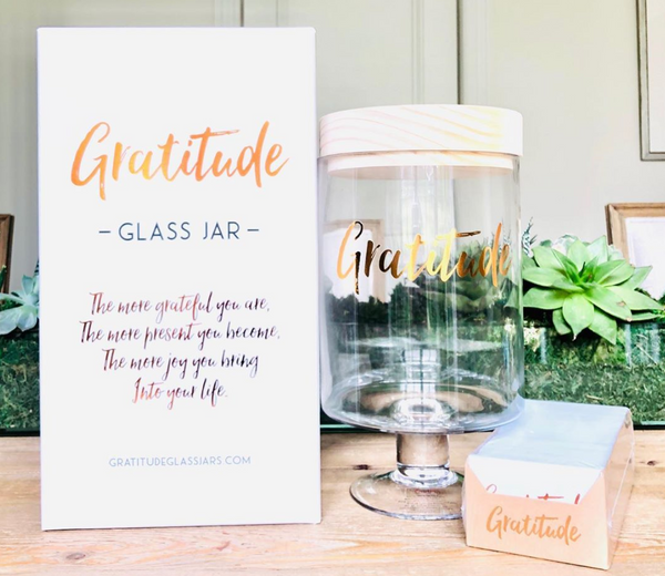 Gratitude glass jar