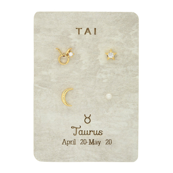 Zodiac Sign Post Pack Earrings| Tai | Fashion Accessories | Earrings
