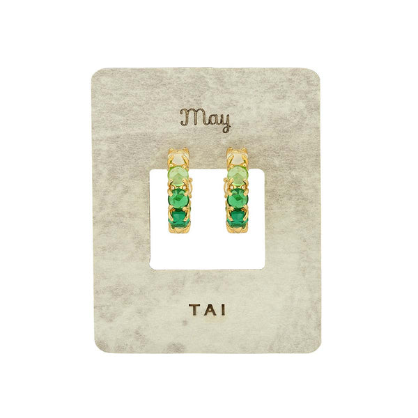 Birthstone huggie earrings