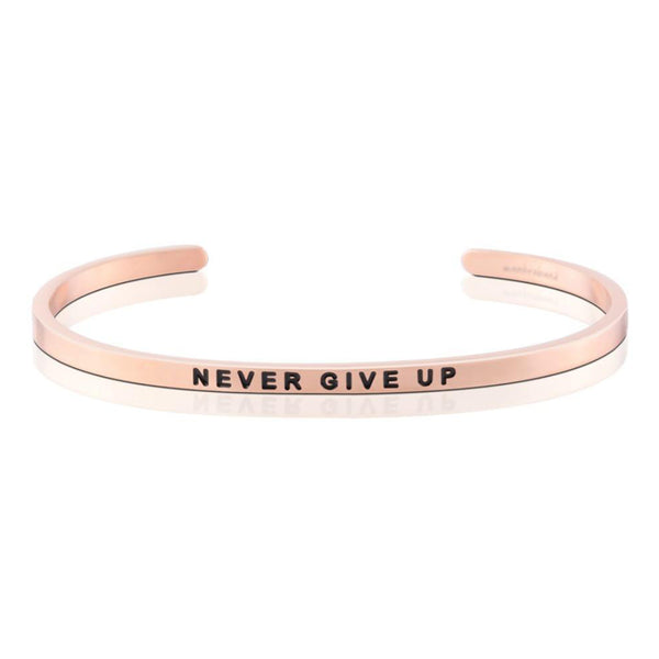 Never give up bangle