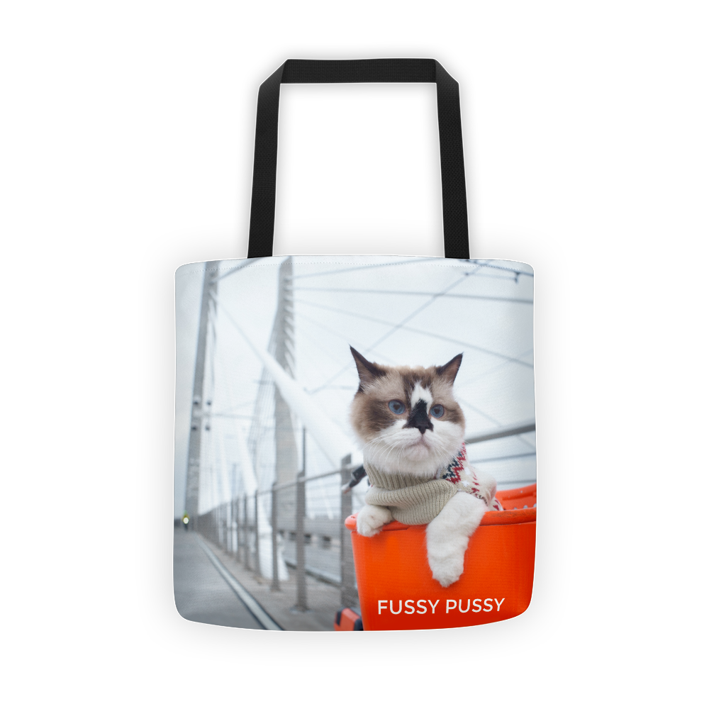 Bike cat tote bag