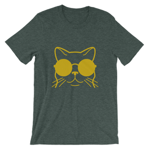 Big cat green and gold t-shirt women
