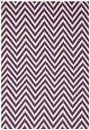 Modern Flatweave Chevron Design Purple Rug - Fantastic Rugs