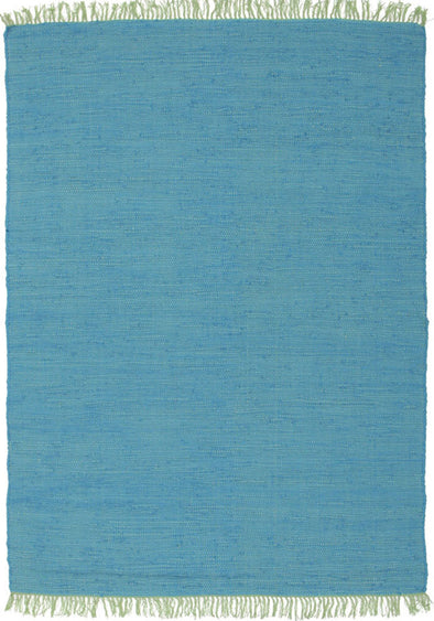 Mina Stunning Cotton Rug Blue - Fantastic Rugs