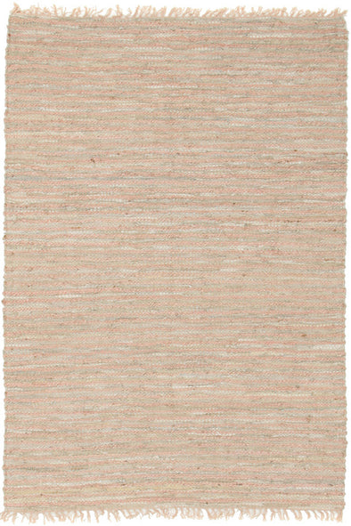 Bondi Leather and Jute Rug Nude Pink - Fantastic Rugs