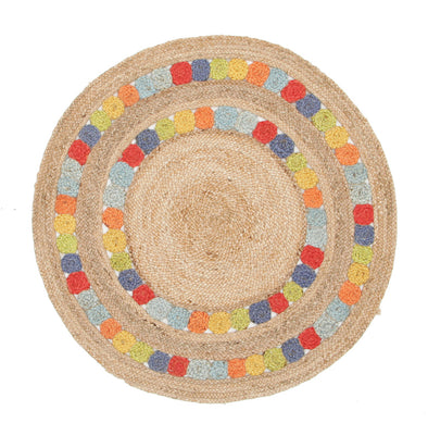 Little Miss Daisy Jute Rug - Fantastic Rugs