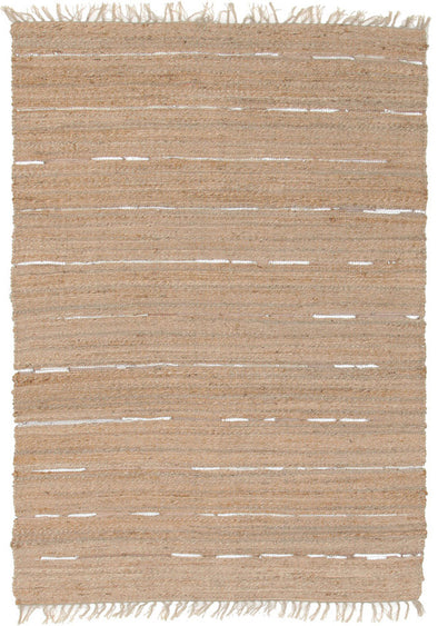 Saville Jute and Leather Rug Natural