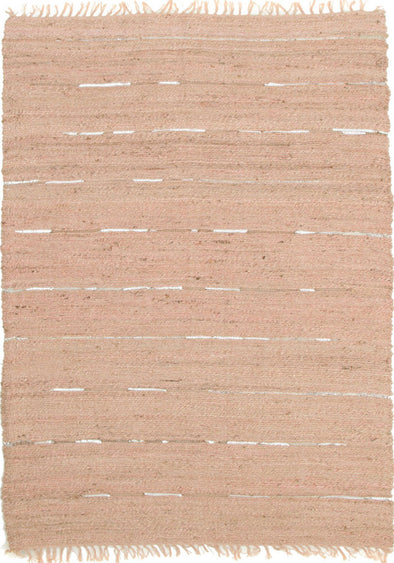 Saville Jute and Leather Rug Nude Pink - Fantastic Rugs