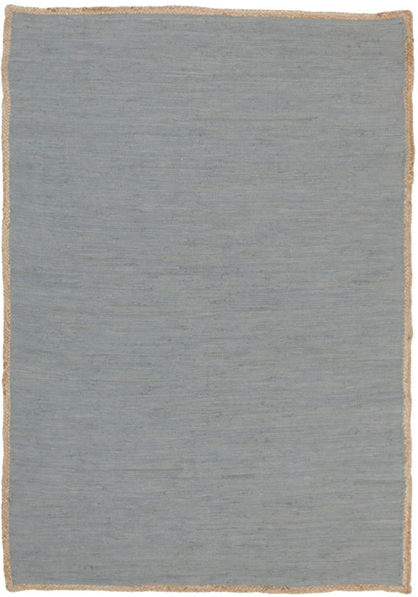 Reno Cotton and Jute Rug Blue - Fantastic Rugs