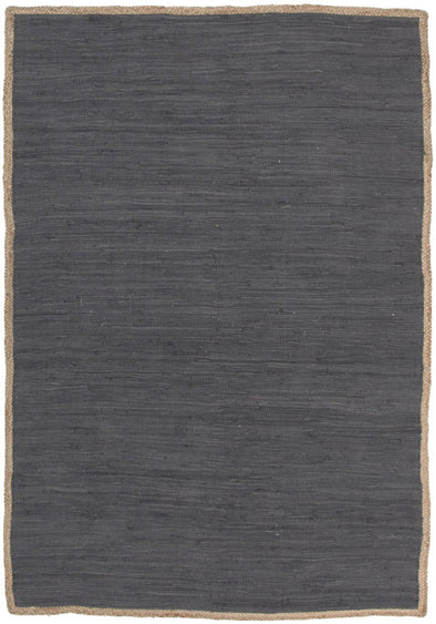 Reno Cotton and Jute Rug Charcoal - Fantastic Rugs