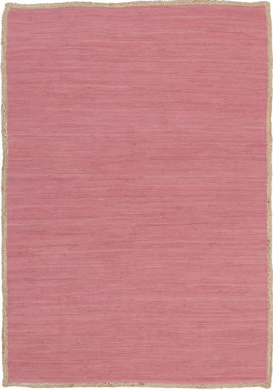 Reno Cotton and Jute Rug Pink - Fantastic Rugs