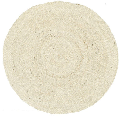 Round Jute Natural Rug Bleached - Fantastic Rugs