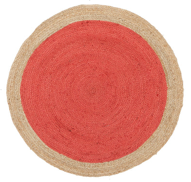 Round Jute Natural Rug Cherry - Fantastic Rugs