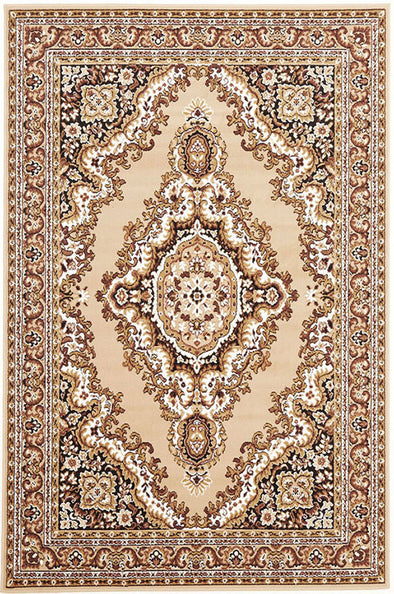 Traditional Medallion Rug Beige