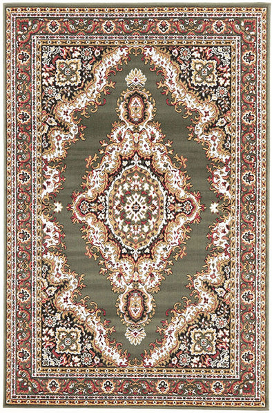 Traditional Medallion Rug Green