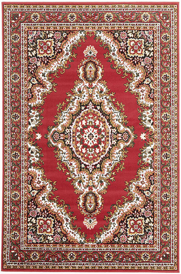 Traditional Medallion Rug Red