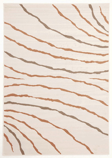 New Stripe Rug Cream Beige Brown - Fantastic Rugs